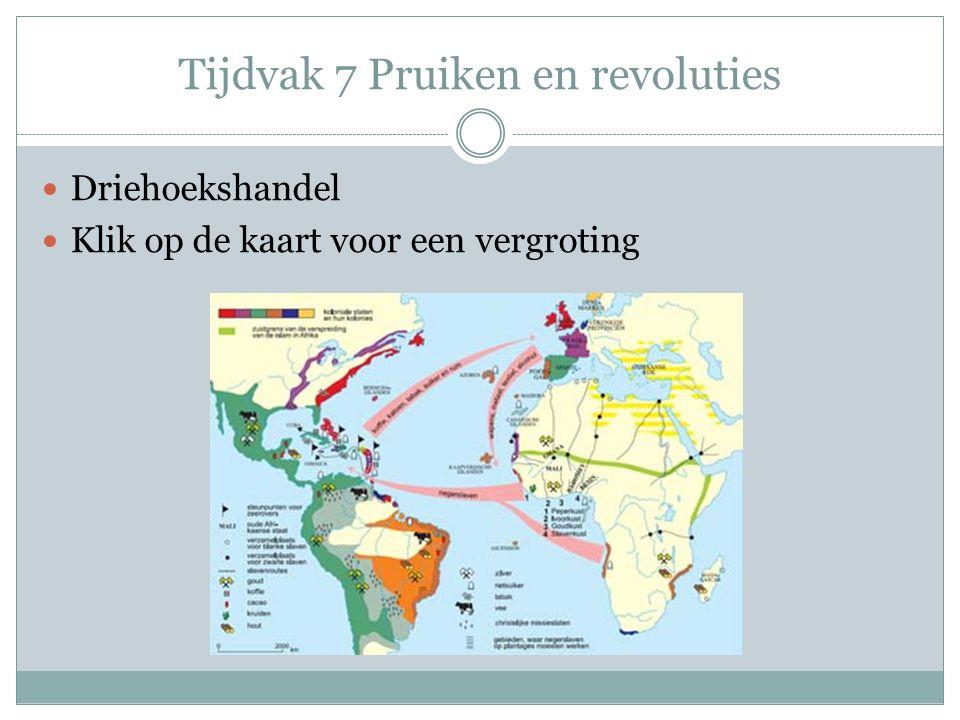 Tijdvak 7 Pruiken en revoluties Driehoekshandel Klik op de kaart voor een vergroting
