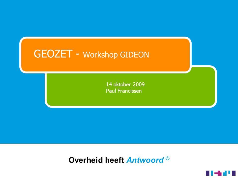 Concrete resultaten (1/4) Interactieve kaarten op Overheid.nl - 2 jaar beheer - collectie vergunningen en bekendmakingen - mogelijkheid 10 andere collecties