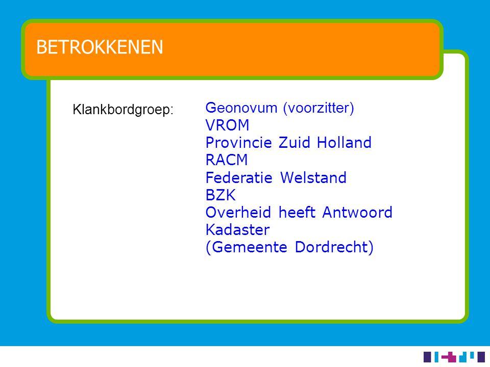 AMBITIE Bijdragen aan generieke ontsluiting van overheidsinformatie via eenvoudige interactieve kaarten op publieksgerichte overheidswebsites Eerst via Overheid.nl collectie Vergunningen en Bekendmakingen