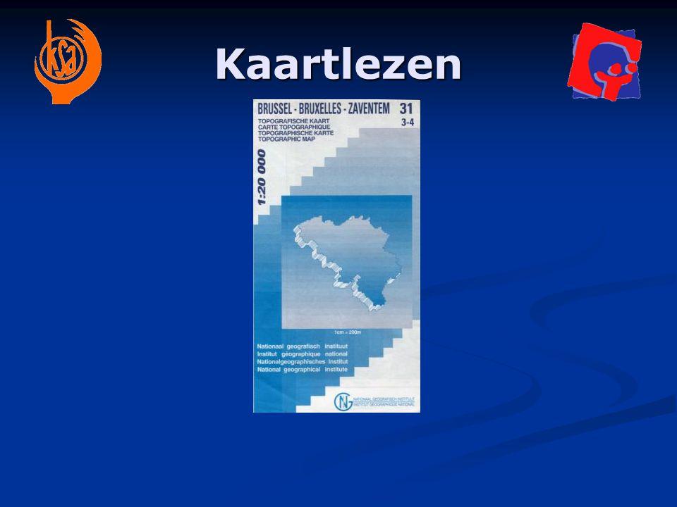 Kaarten en schalen Schaal 1/10 000  1 cm op kaart is 100 m in werkelijkheid