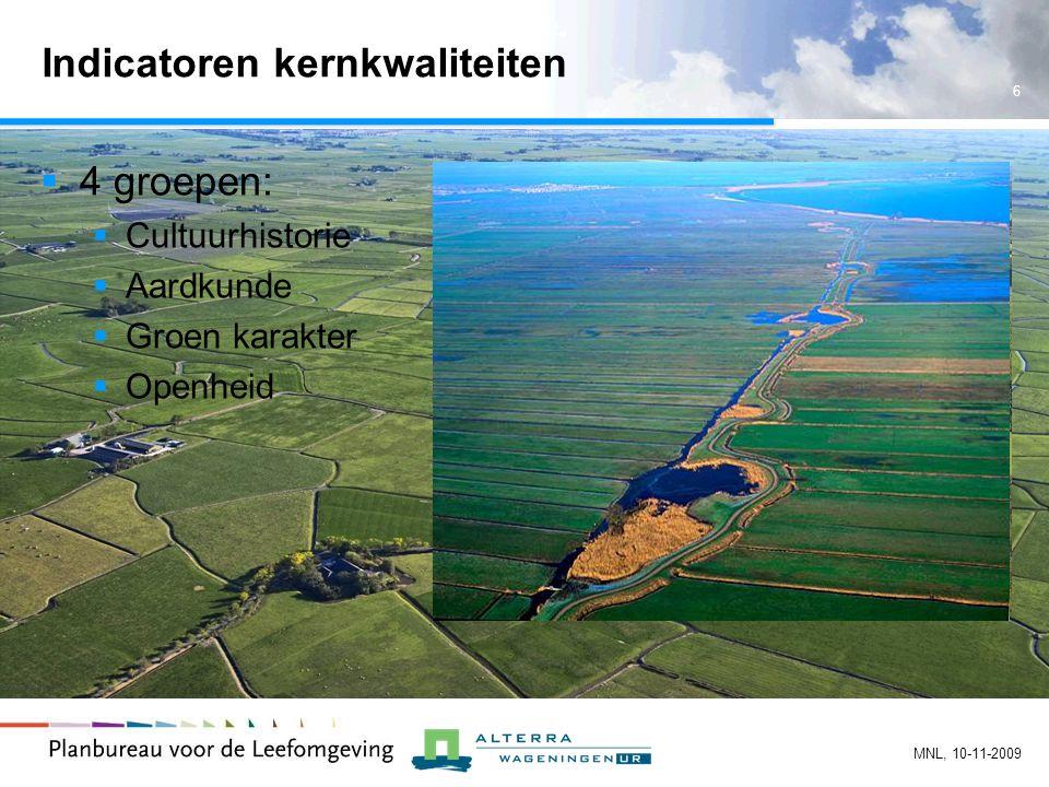 7 MNL, 10-11-2009 Nulmeting 1:10.000 Voorbeeld aardkunde: Kreekruggen en geulen Zuidwest-Zeeland Geomorfologische kaart 1:50.000