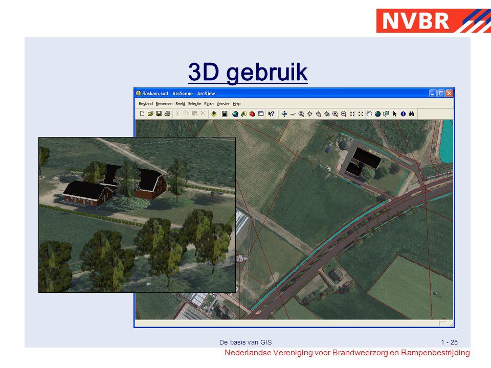 Nederlandse Vereniging voor Brandweerzorg en Rampenbestrijding De basis van GIS1 - 25 3D gebruik