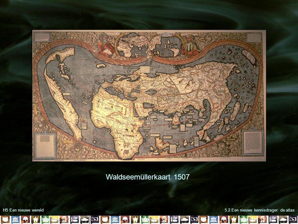 H5 Een nieuwe wereld5.2 Een nieuwe kennisdrager: de atlas Kaart uit de atlas van Ortelius 1570