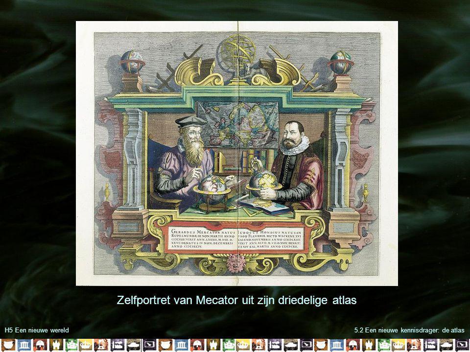 H5 Een nieuwe wereld5.2 Een nieuwe kennisdrager: de atlas Zelfportret van Mecator uit zijn driedelige atlas