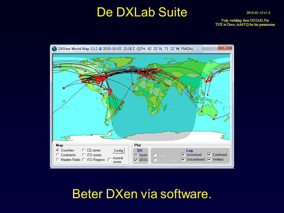 Acht vrije toepassingen die individueel kunnen werken maar Wanneer ze tegelijkertijd worden uitgevoerd maken ze zich aan elkaar bekend en werken ze automatisch samen Beter DXen via software De DXLab Suite