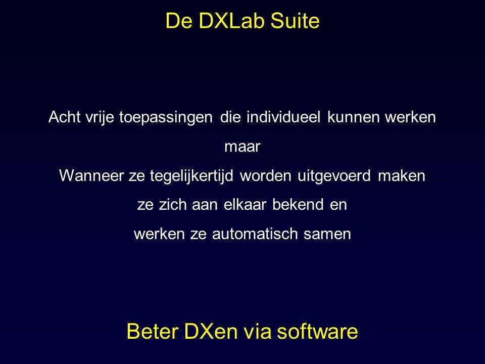 Originele architectuur: Monolitish 3.792 Transceiver Control Logging Propagation Location Control DX Spot Collection QSL Routes DXLab