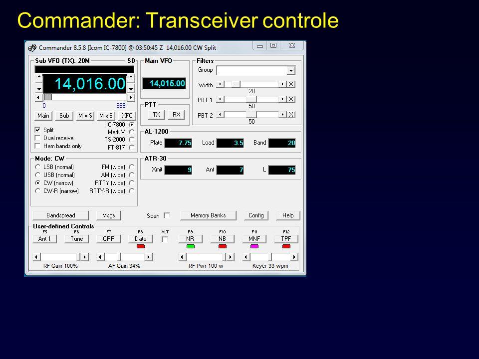 Commander: Transceiver controle