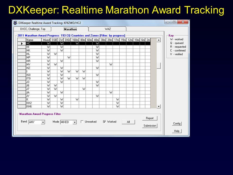 DXKeeper: Realtime Marathon Award Tracking