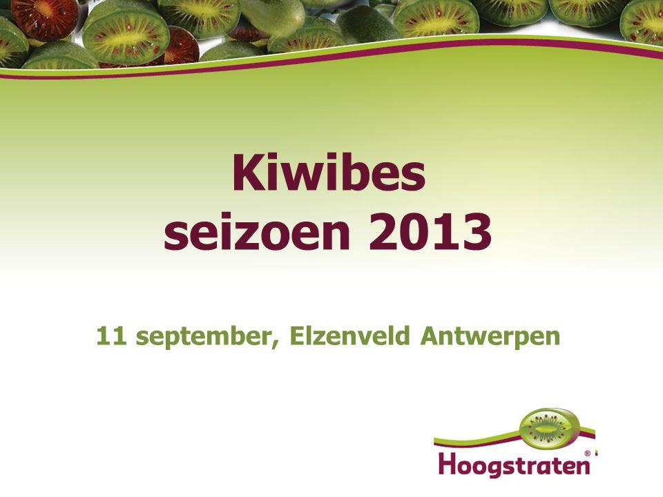 Kiwibes seizoen 2013 11 september, Elzenveld Antwerpen