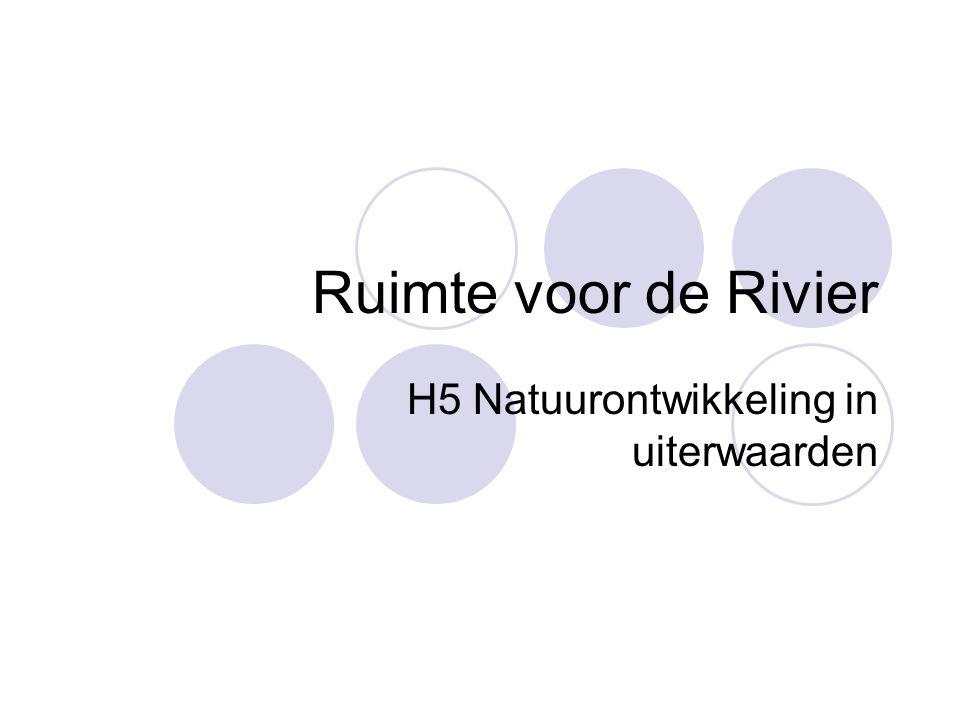 Natuurlijke rivieren Grote rijkdom aan planten- en diersoorten Afhankelijk van:  Dynamiek van de rivier  Variaties in rivierenlandschap