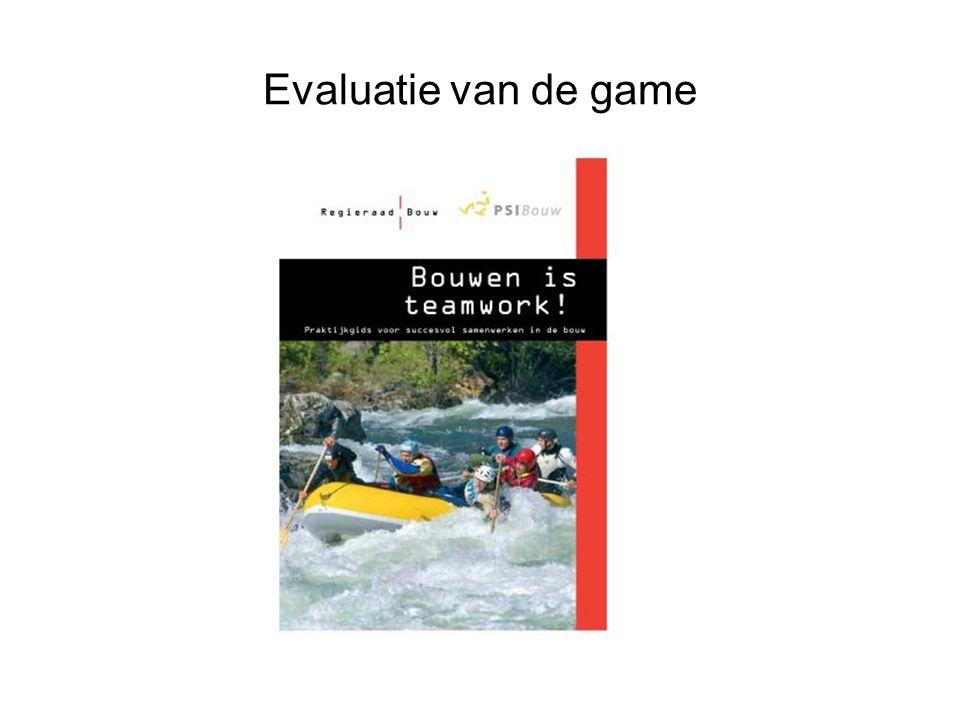 Evaluatie van de game 11Game professioneel opdrachtgever- en opdrachtnemerschap