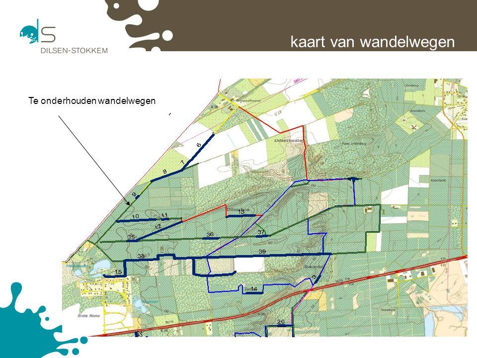 20 kaart van wandelwegen Te onderhouden wandelwegen
