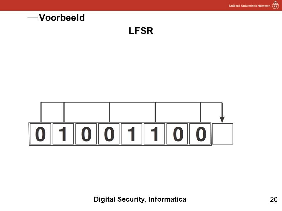 20 Digital Security, Informatica LFSR Voorbeeld