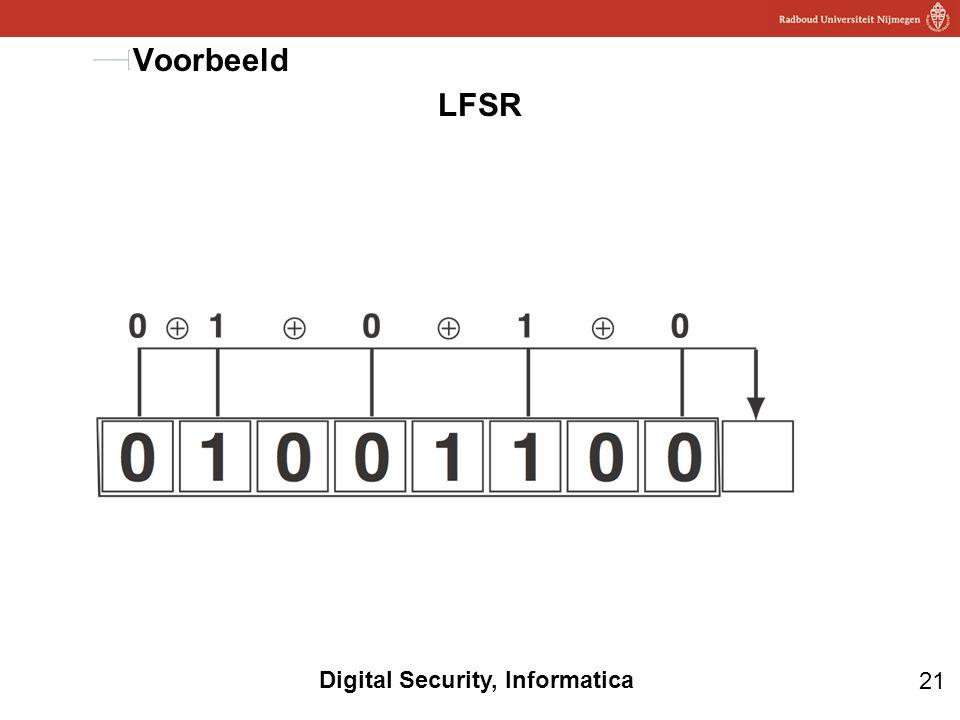 21 Digital Security, Informatica LFSR Voorbeeld