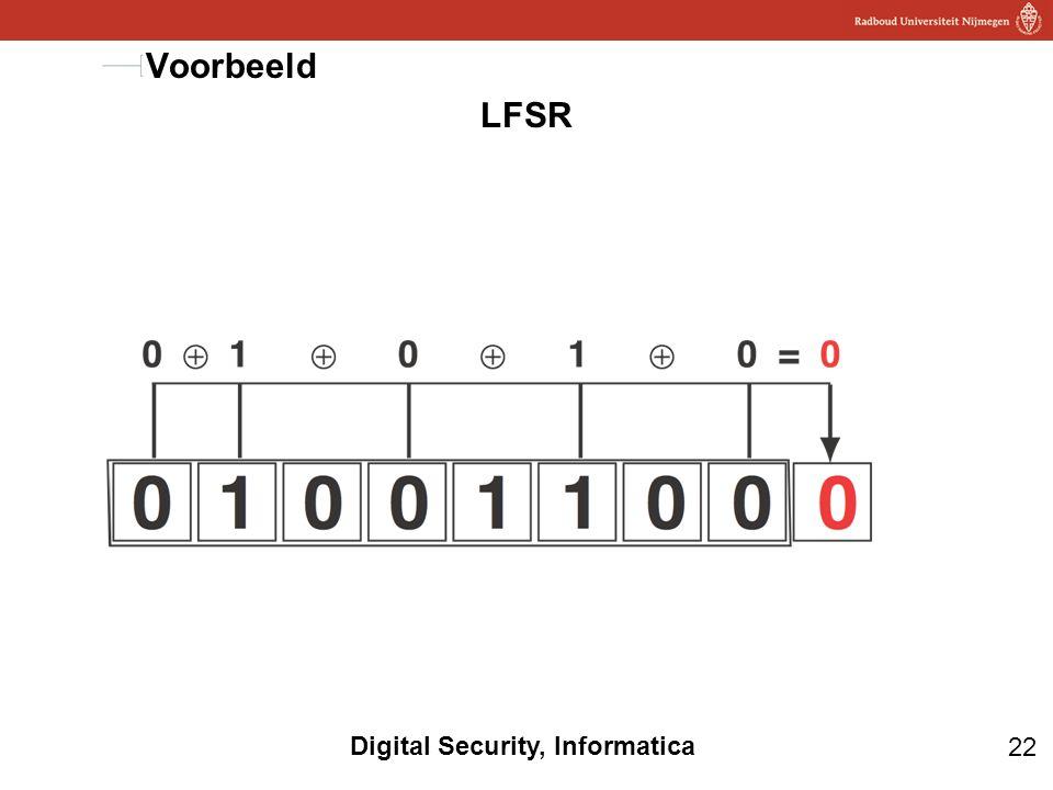 22 Digital Security, Informatica LFSR Voorbeeld