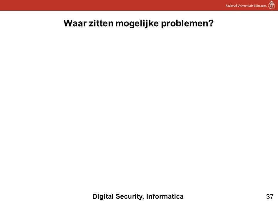 37 Digital Security, Informatica Waar zitten mogelijke problemen?