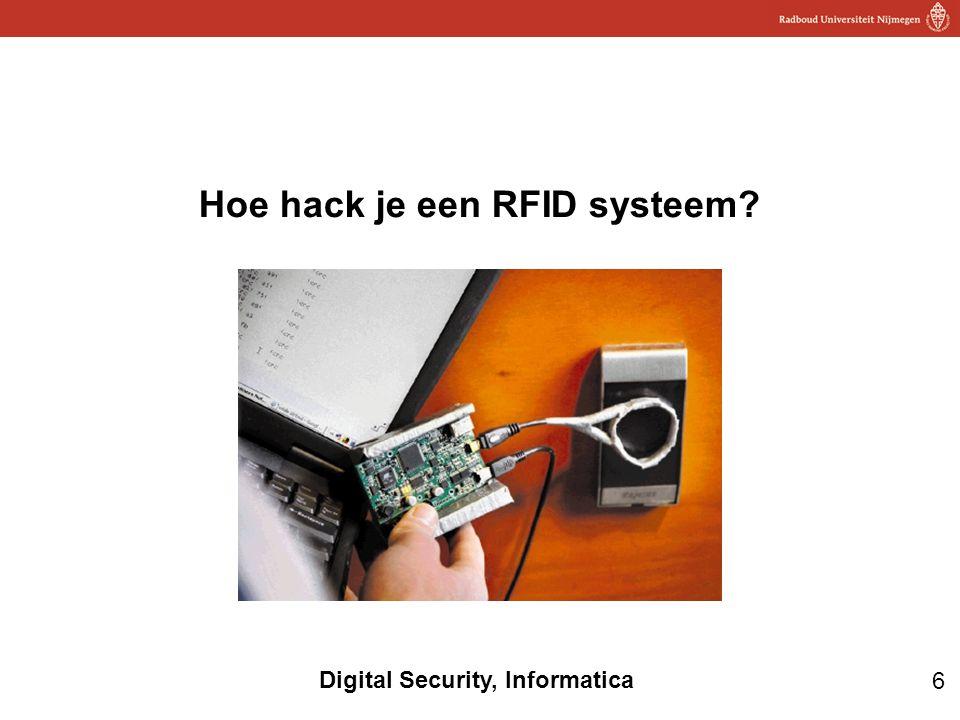 6 Digital Security, Informatica Hoe hack je een RFID systeem?