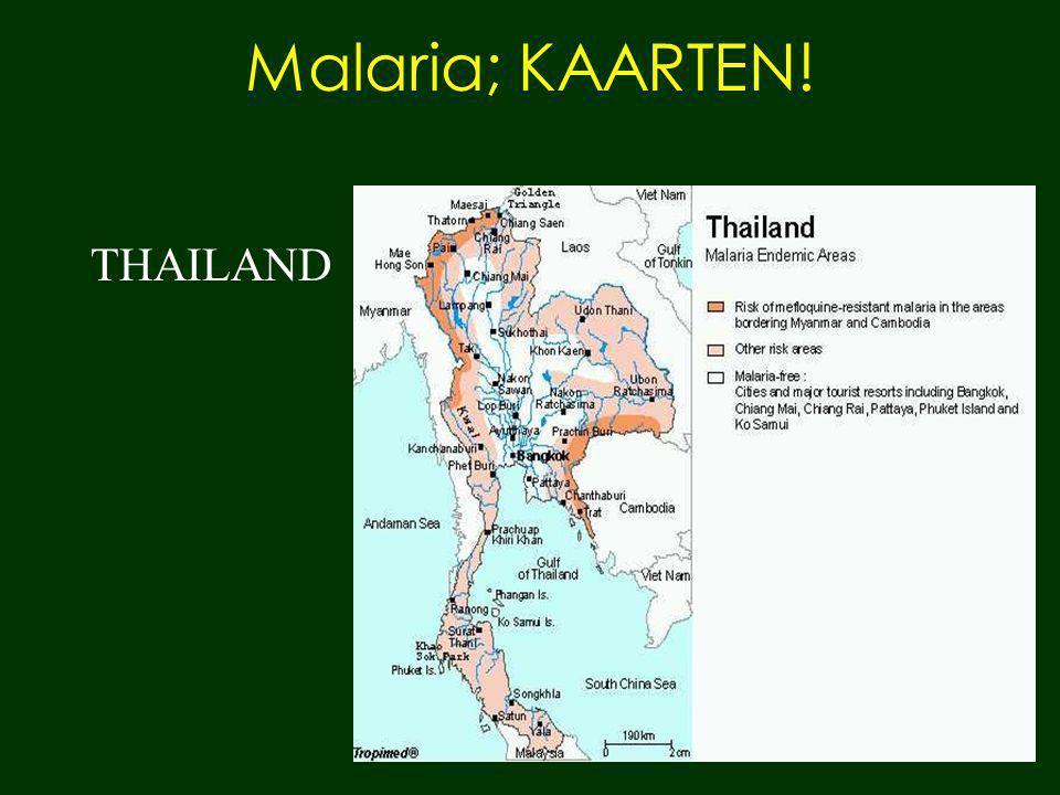 Malaria; KAARTEN! THAILAND