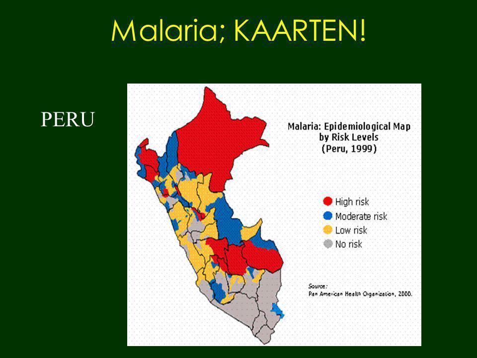 Malaria; KAARTEN! PERU