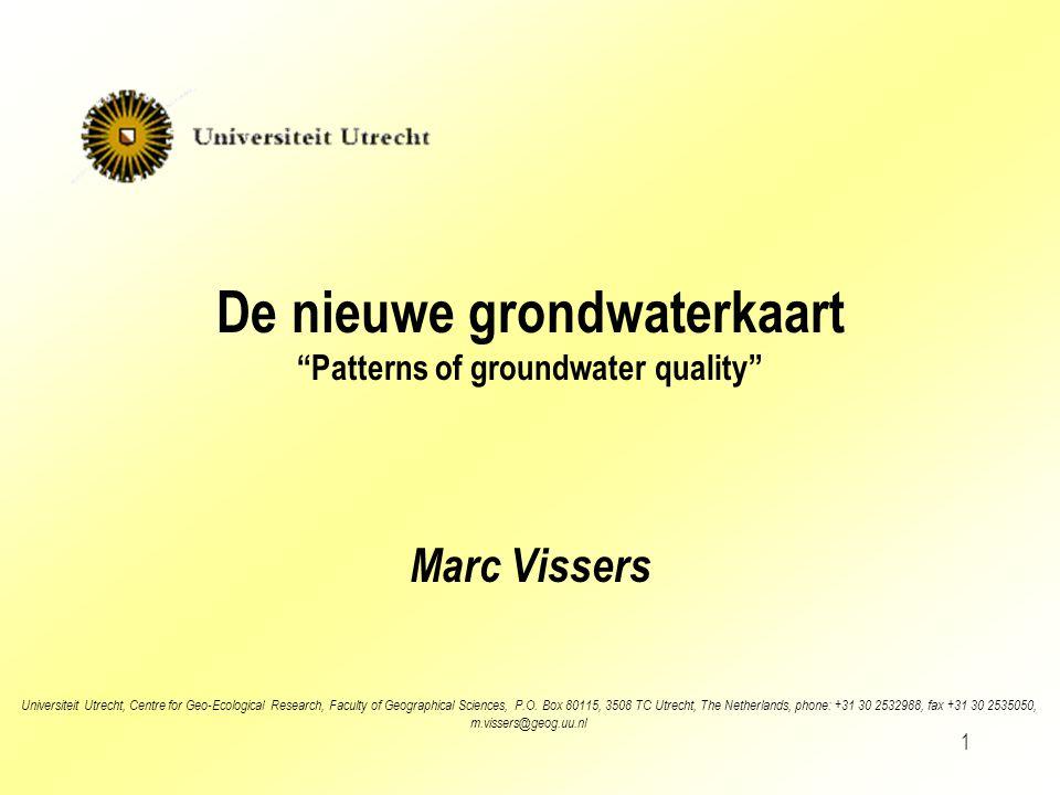 2 Opzet presentatie Waarom een grondwaterkaart.
