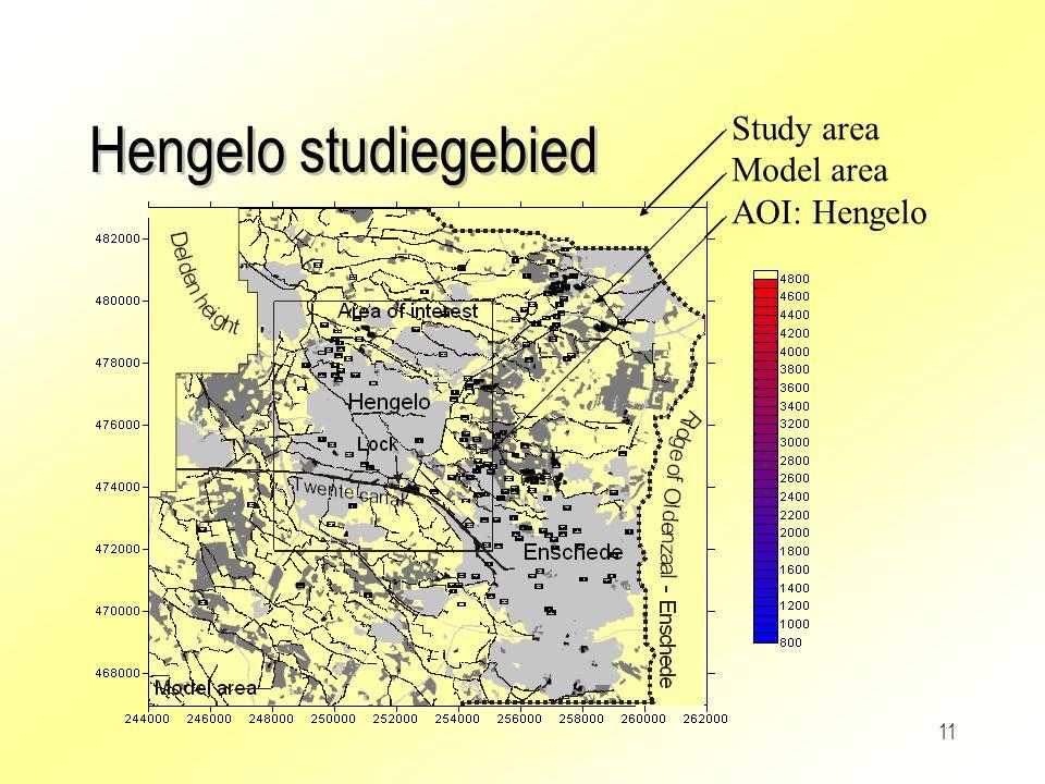 11 Hengelo studiegebied Study area Model area AOI: Hengelo