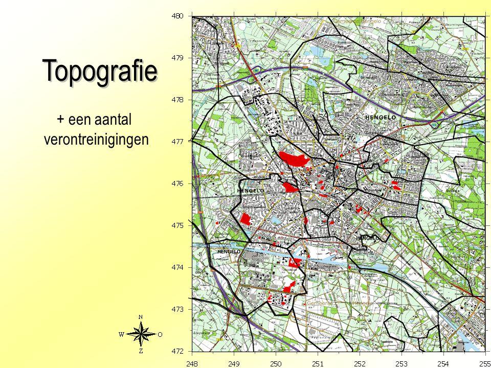 15 Topografie + een aantal verontreinigingen