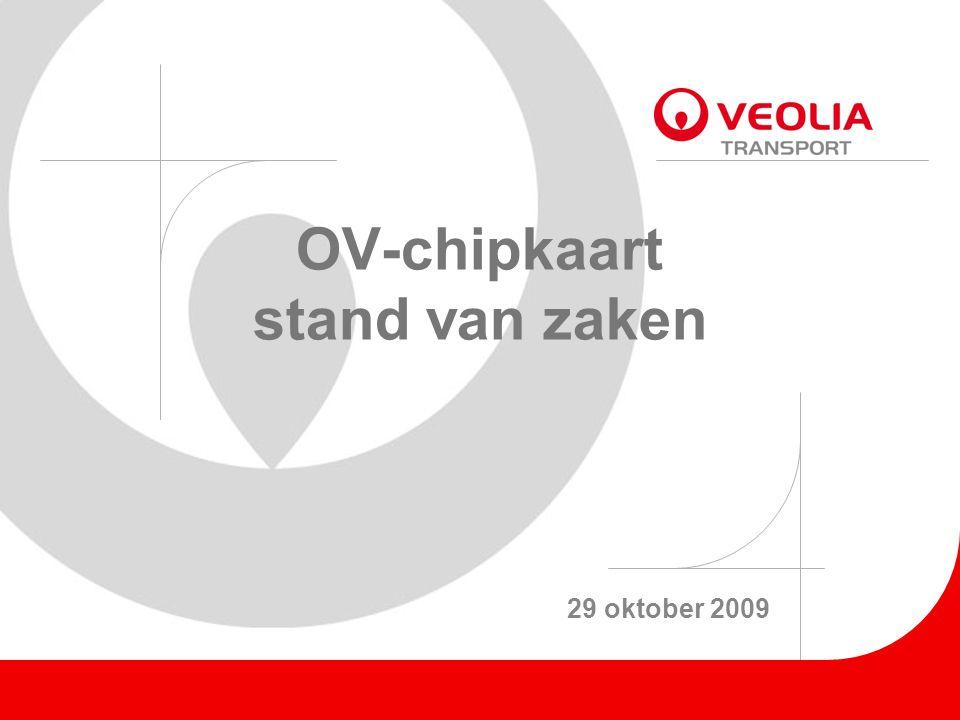 OV-chipkaart stand van zaken 29 oktober 2009