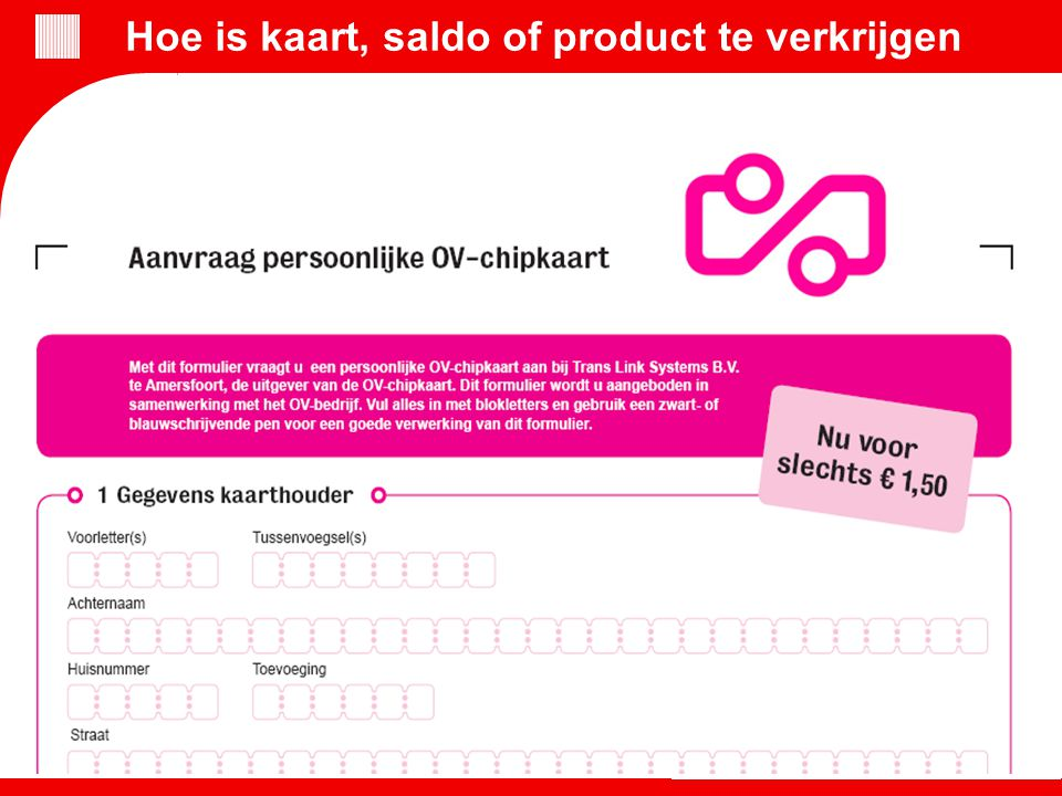 Chipkaart en internet gaan heel goed samen Bestel online saldo en producten