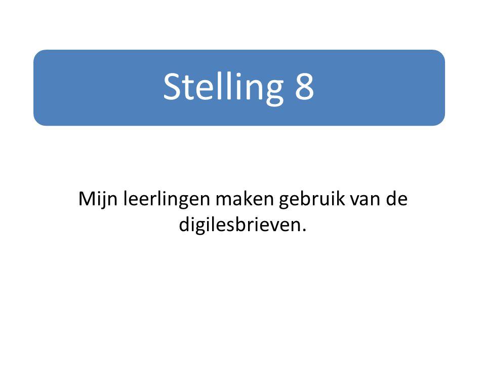 Stelling 8 Mijn leerlingen maken gebruik van de digilesbrieven.