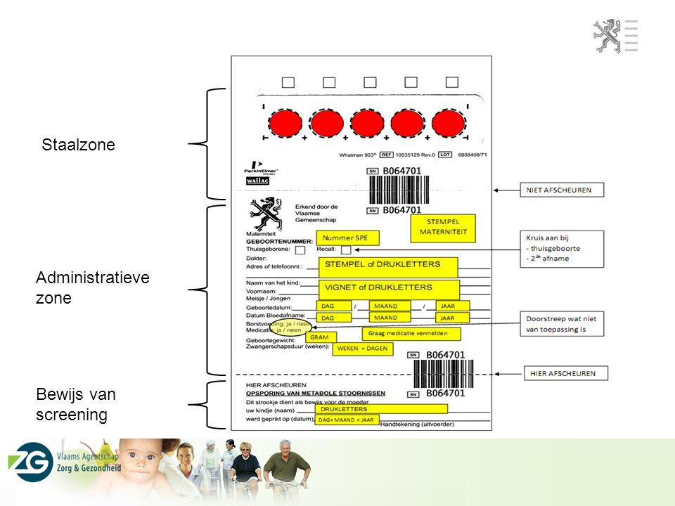 Staalzone Administratieve zone Bewijs van screening