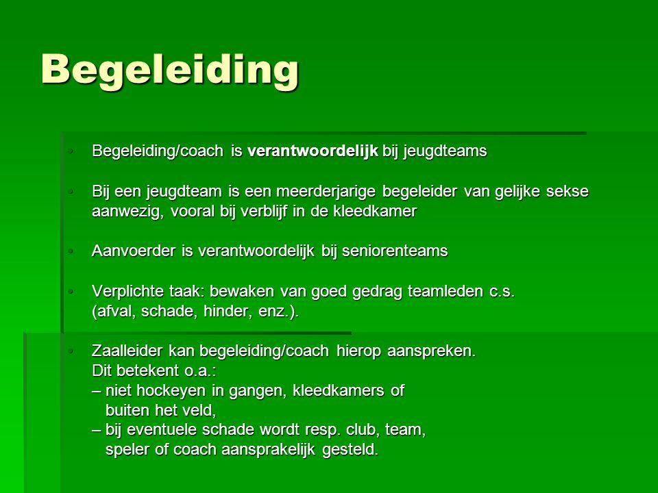Begeleiding Begeleiding/coach is verantwoordelijk bij jeugdteamsBegeleiding/coach is verantwoordelijk bij jeugdteams Bij een jeugdteam is een meerderj