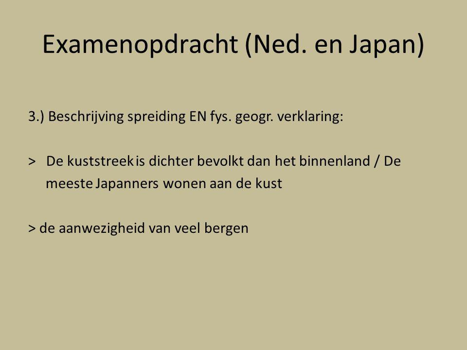 Examenopdracht (Ned.en Japan) 3.) Beschrijving spreiding EN fys.