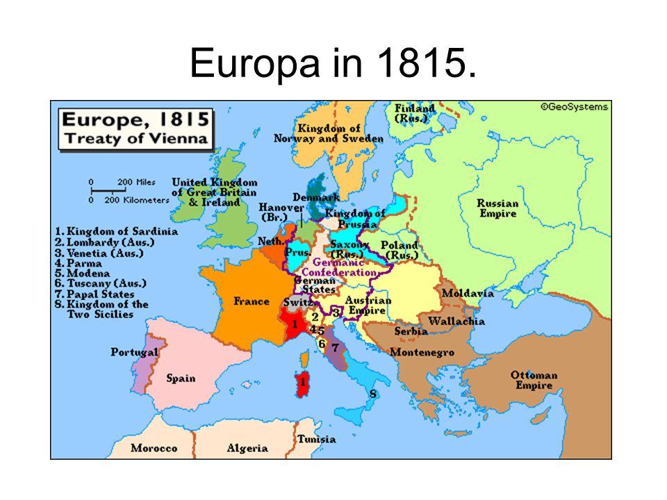 Europa in 1815.