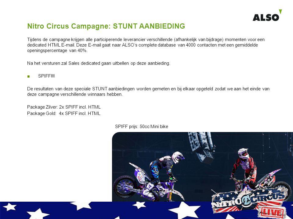 Nitro Circus Campagne: STUNT AANBIEDING Tijdens de campagne krijgen alle participerende leverancier verschillende (afhankelijk van bijdrage) momenten voor een dedicated HTML E-mail.