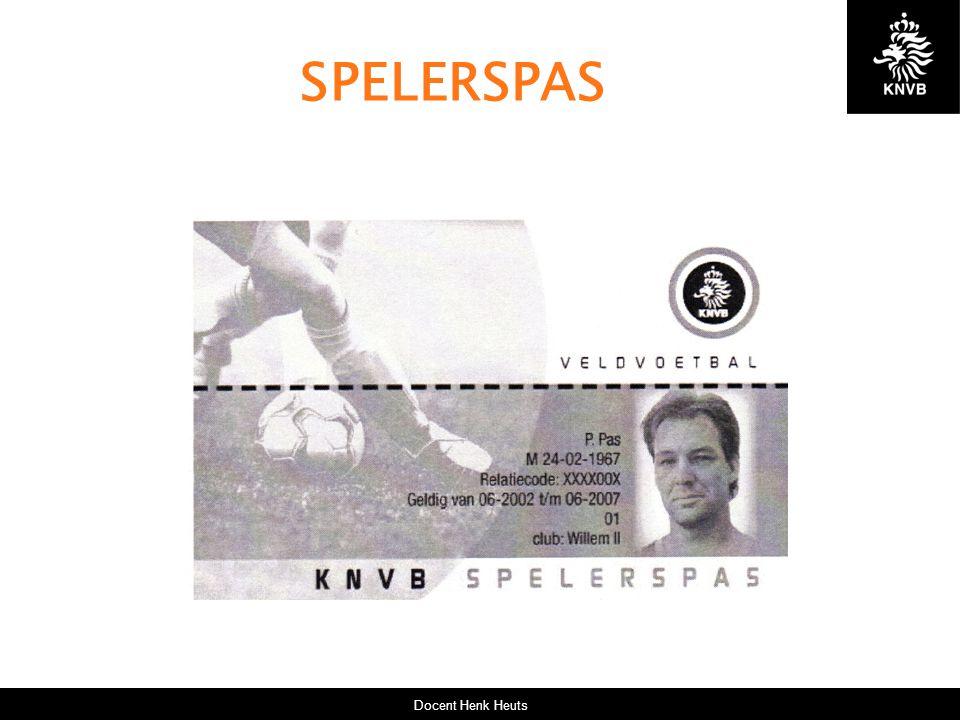 Docent Henk Heuts SPELERSPAS