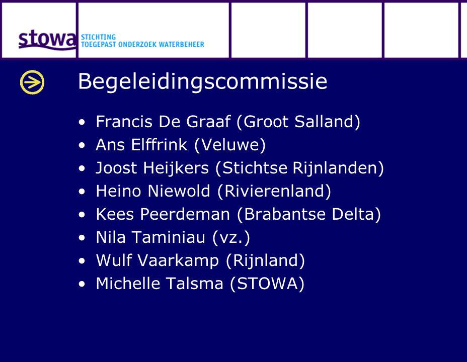 Begeleidingscommissie Francis De Graaf (Groot Salland) Ans Elffrink (Veluwe) Joost Heijkers (Stichtse Rijnlanden) Heino Niewold (Rivierenland) Kees Pe