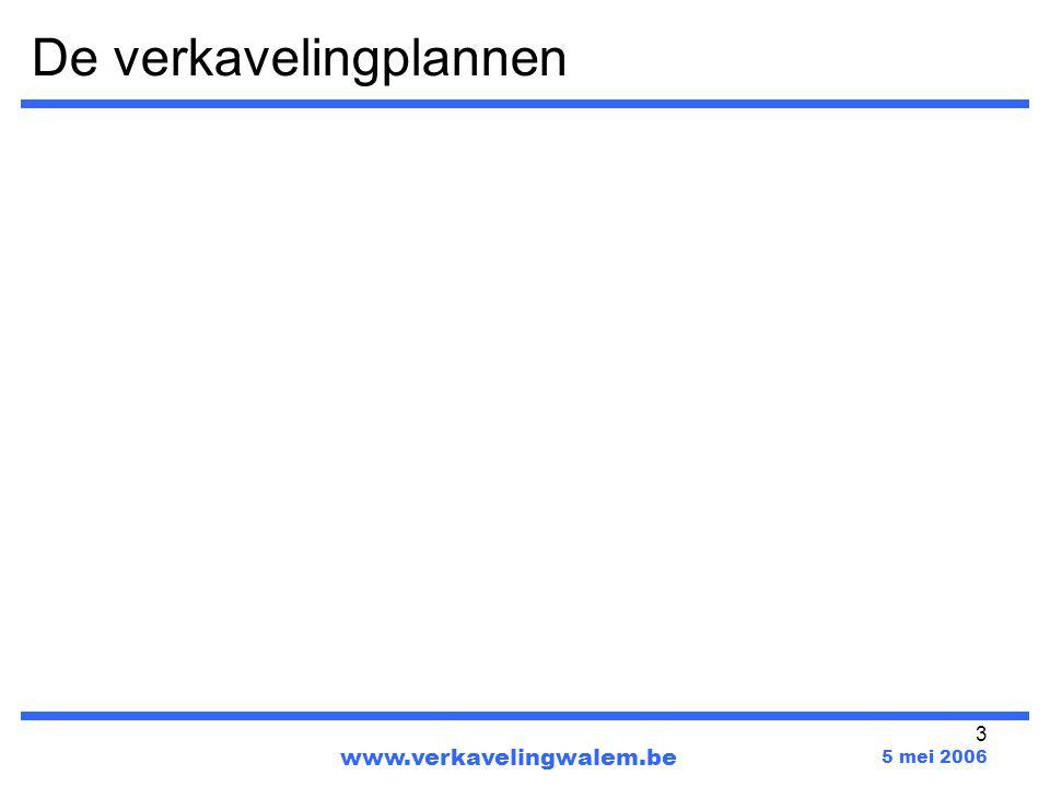 3 De verkavelingplannen www.verkavelingwalem.be 5 mei 2006
