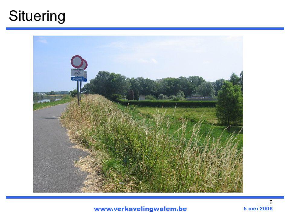 27 www.verkavelingwalem.be 5 mei 2006 Werkgroep per waterbekken : Walem en Mechelen zitten in het Beneden-Nete waterbekken.