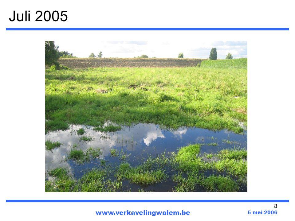 19 Ophoging van het terrein www.verkavelingwalem.be 5 mei 2006 Verkavelingperceel