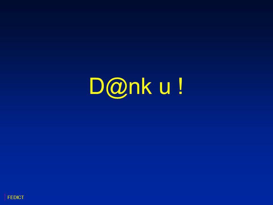 D@nk u ! FEDICT