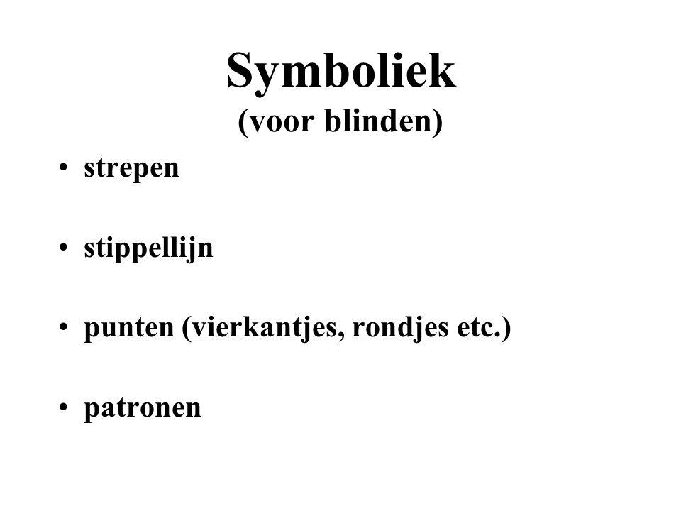Symboliek (voor zienden) kleuren lijnen pijlen tekst (namen van steden, etc.) legenda