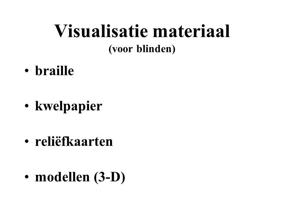 Symboliek (voor blinden) strepen stippellijn punten (vierkantjes, rondjes etc.) patronen