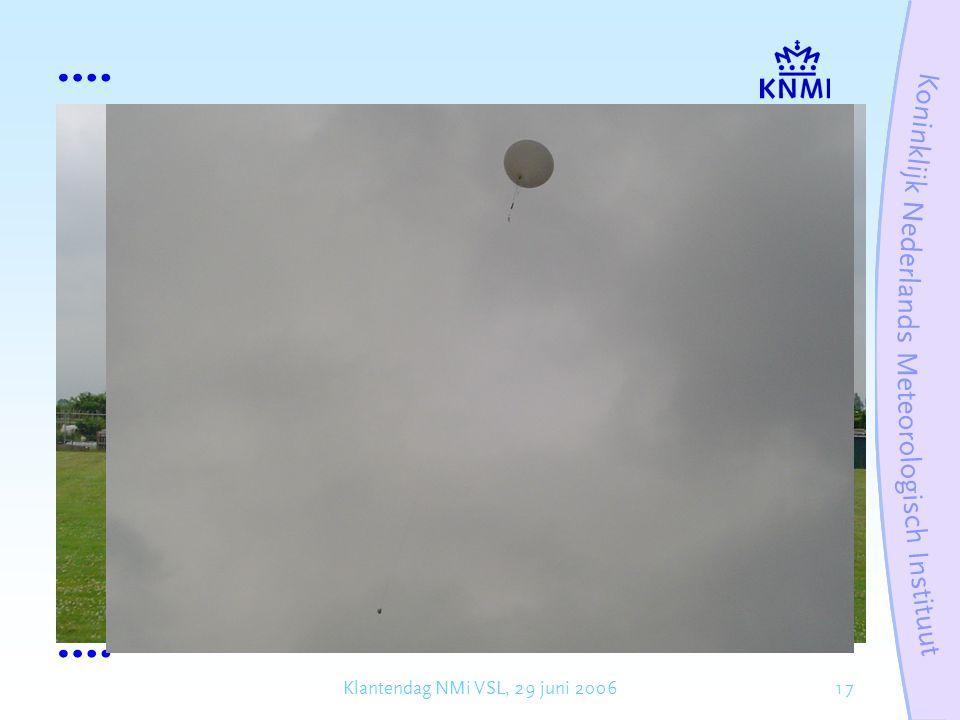 17Klantendag NMi VSL, 29 juni 2006 Barometers in radiosondes: tot ca.