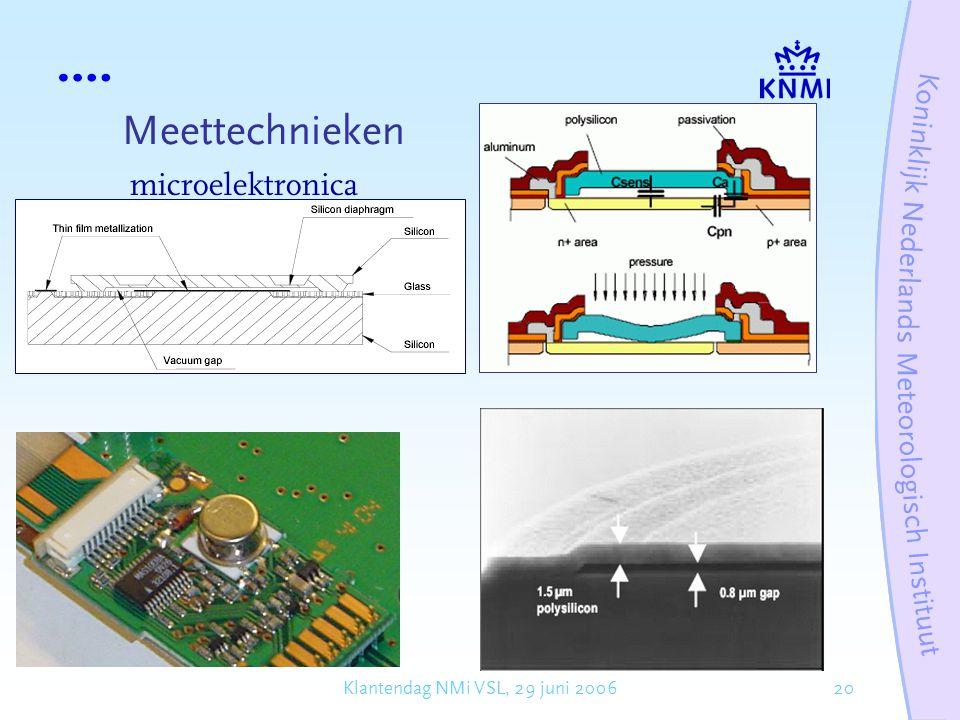 20Klantendag NMi VSL, 29 juni 2006 Meettechnieken microelektronica