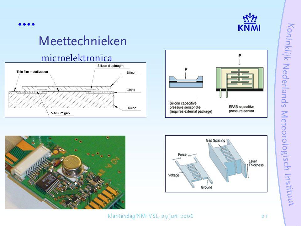 21Klantendag NMi VSL, 29 juni 2006 Meettechnieken microelektronica