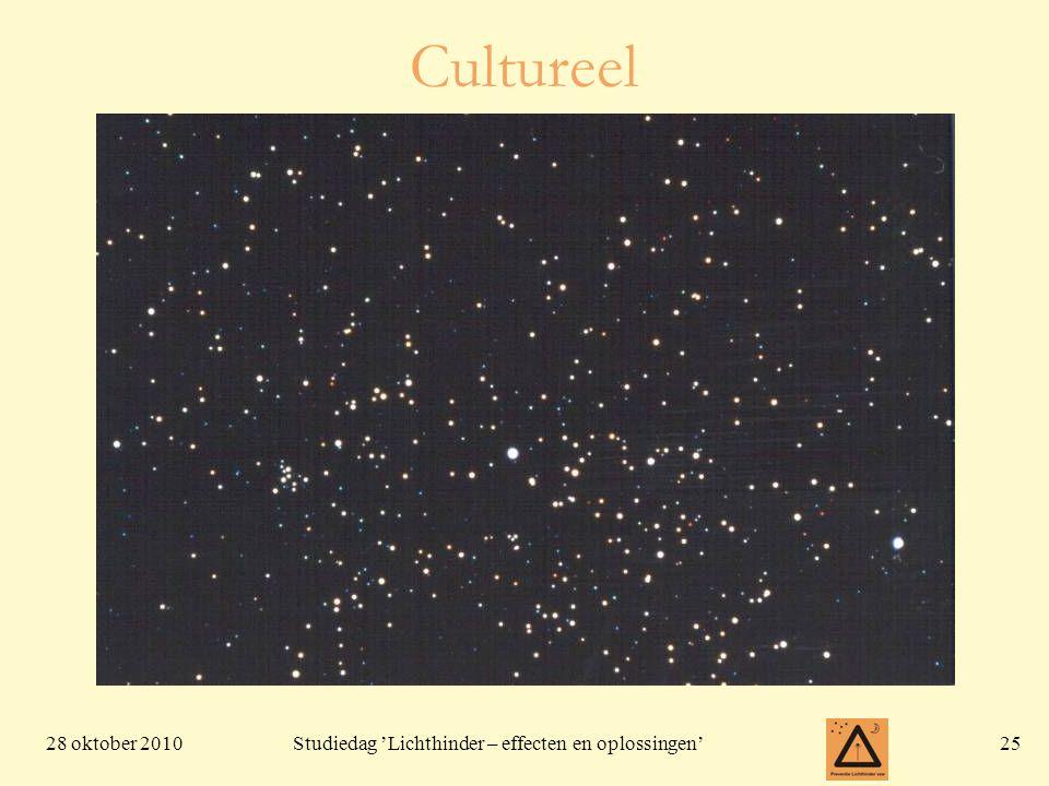 28 oktober 201025 Studiedag 'Lichthinder – effecten en oplossingen' Cultureel