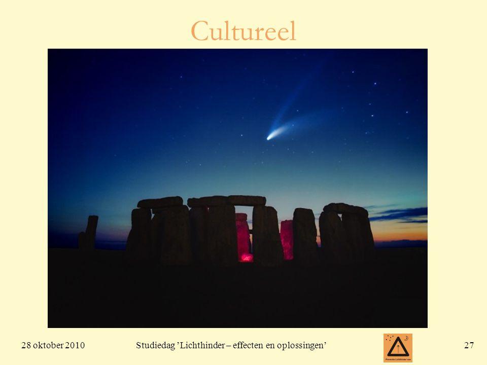 28 oktober 201027 Studiedag 'Lichthinder – effecten en oplossingen' Cultureel