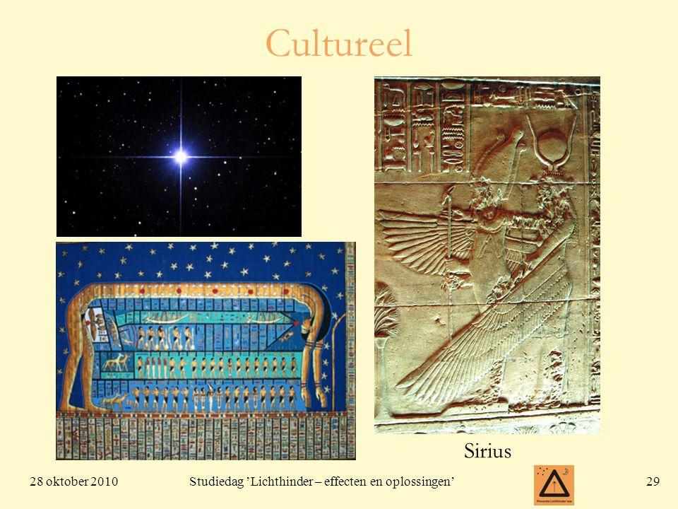 28 oktober 201029 Studiedag 'Lichthinder – effecten en oplossingen' Cultureel Sirius