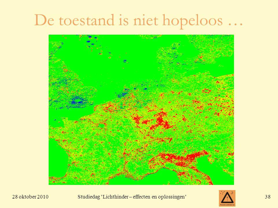28 oktober 201038 Studiedag 'Lichthinder – effecten en oplossingen' De toestand is niet hopeloos …