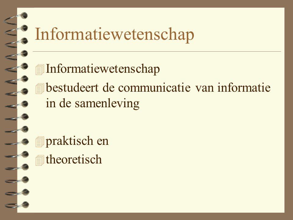 Informatie 4 informatie als communicatie van representaties uit het ene voorstellingskader (van de zender) naar een ander voorstellingskader (van de ontvanger) via een informatiedrager (signaal) dat via een kanaal (media).